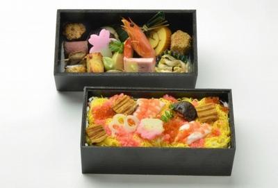 二段散らし寿司弁当の画像