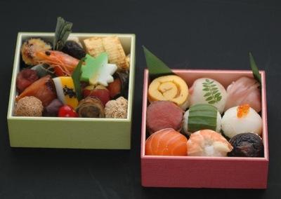 手まり寿司弁当の画像