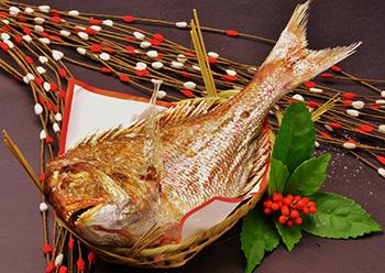 天然鯛の塩焼きの画像