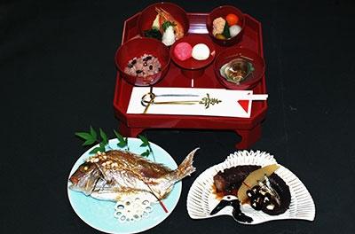 お食い初め祝い会席の画像